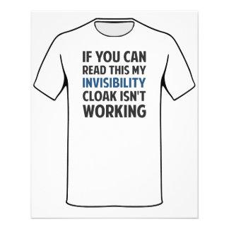 Mi capa de la invisibilidad no está funcionando folleto 11,4 x 14,2 cm