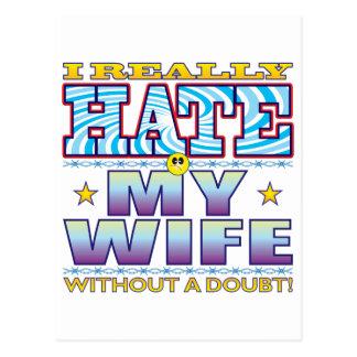Mi cara del odio de la esposa postal