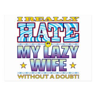 Mi cara perezosa del odio de la esposa postal