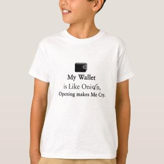 Mi cartera es como una cebolla, abriéndose hace camiseta