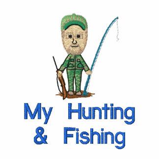 Mi caza y camiseta bordada pesca