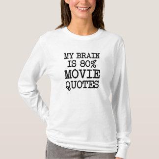 Mi cerebro es mujeres divertidas del refrán de las camiseta