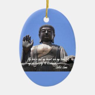 Mi cerebro y mi corazón son mis templos Dalai Lama Adornos