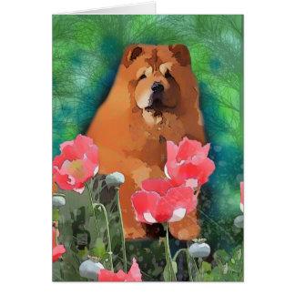 """Mi chica """"descarado el perro chino hermoso """" tarjeta"""