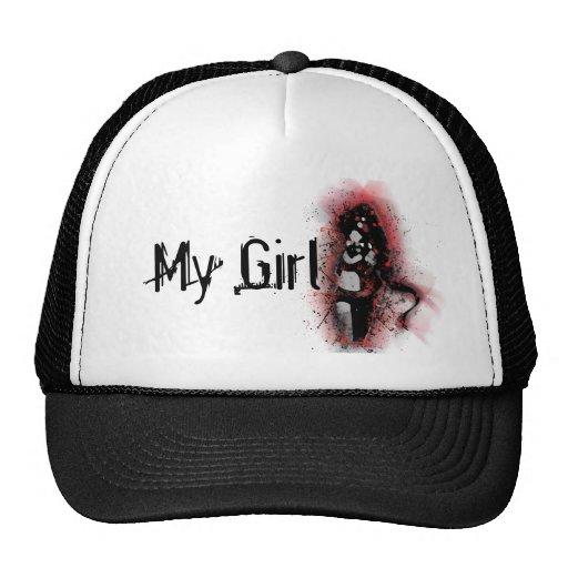 Mi chica en rojo gorros bordados