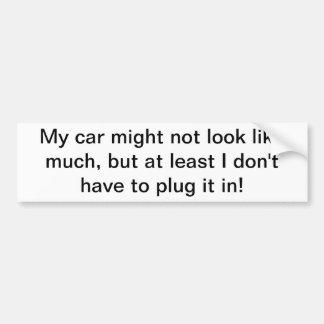 Mi coche no pudo parecer mucho pegatina pegatina para coche