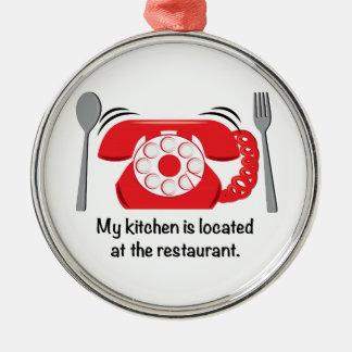 Mi cocina está situada en el restaurante ornato