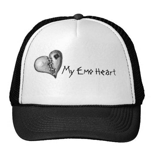 Mi corazón de Emo Gorros Bordados