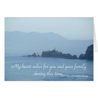 Mi corazón duele para usted, tarjeta de la condole