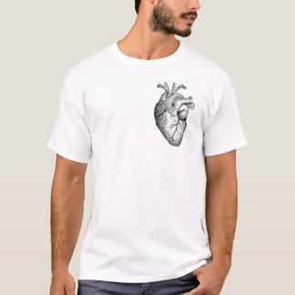 Mi corazón (esquema negro) camiseta