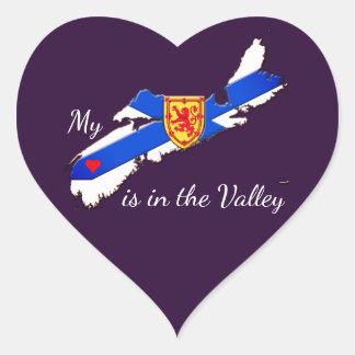 Mi corazón está en el pegatina de Nueva Escocia