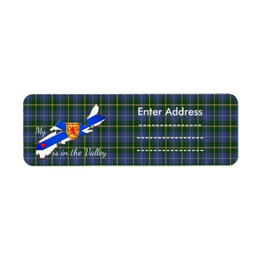 Mi corazón está en el pegatina de Nueva Escocia Etiqueta De Remitente