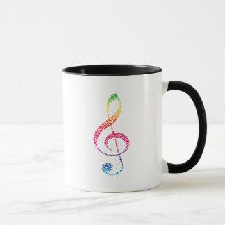 Mi corazón está en la música taza