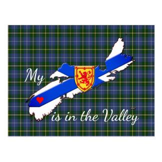 Mi corazón está en la postal de Nueva Escocia del