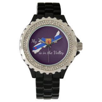 Mi corazón está en la púrpura del reloj de Nueva
