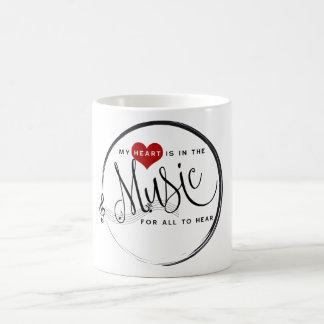 Mi corazón está en la taza de la música (blanca)