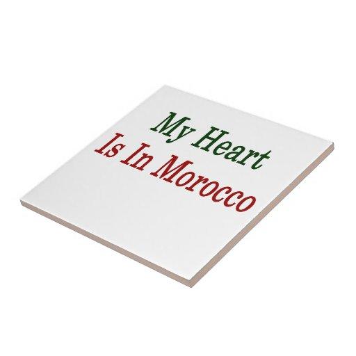 Mi corazón está en Marruecos Teja Ceramica