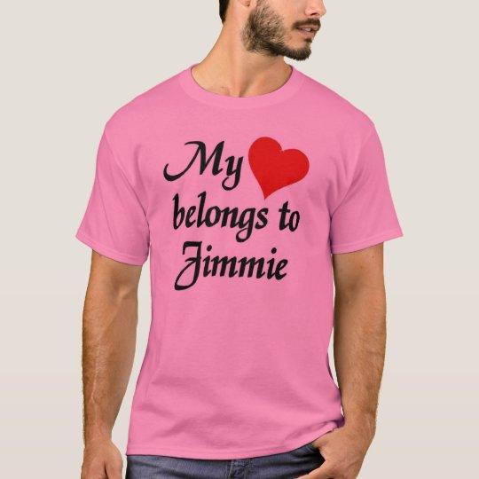 Mi corazón pertenece a Jimmie Camiseta