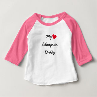 Mi corazón pertenece a la camiseta del raglán del