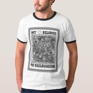 Mi corazón pertenece a la camiseta Railroading