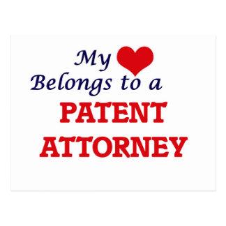 Mi corazón pertenece a un abogado de patentes postal