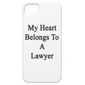 Mi corazón pertenece a un abogado iPhone 5 Case-Mate carcasa