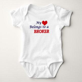 Mi corazón pertenece a un agente body para bebé