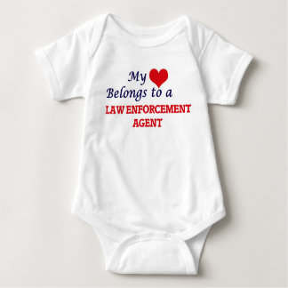 Mi corazón pertenece a un agente de aplicación de body para bebé