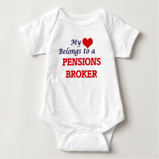 Mi corazón pertenece a un agente de las pensiones body para bebé