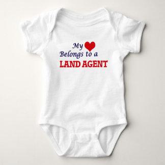 Mi corazón pertenece a un agente de tierra body para bebé