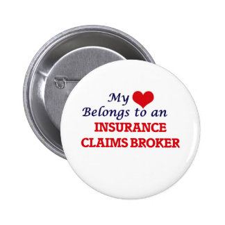 Mi corazón pertenece a un agente del crédito de chapa redonda de 5 cm