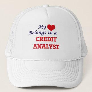 Mi corazón pertenece a un analista de crédito gorra de camionero