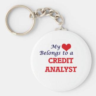 Mi corazón pertenece a un analista de crédito llavero