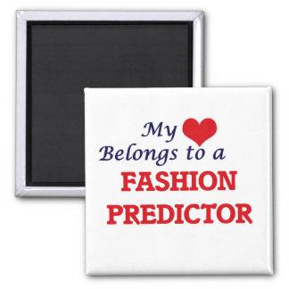 Mi corazón pertenece a un calculador de la moda imán