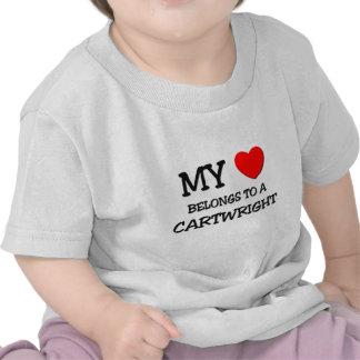 Mi corazón pertenece a un CARRETERO Camisetas