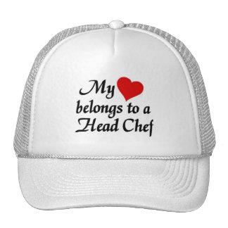 Mi corazón pertenece a un chef gorro de camionero