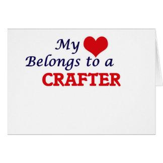 Mi corazón pertenece a un Crafter Tarjeta De Felicitación
