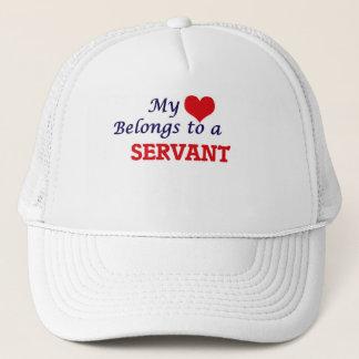 Mi corazón pertenece a un criado gorra de camionero