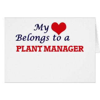 Mi corazón pertenece a un director de planta tarjeta