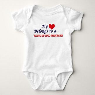 Mi corazón pertenece a un encargado de radio del body para bebé