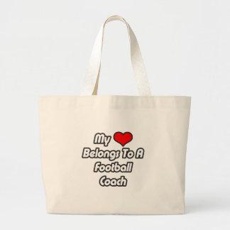 Mi corazón pertenece a un entrenador de fútbol bolsas