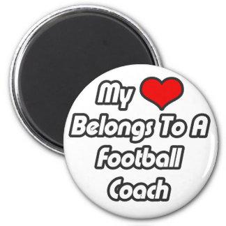 Mi corazón pertenece a un entrenador de fútbol iman para frigorífico