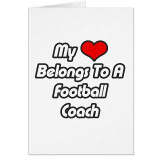 Mi corazón pertenece a un entrenador de fútbol tarjetón
