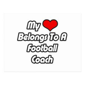 Mi corazón pertenece a un entrenador de fútbol postal