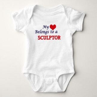 Mi corazón pertenece a un escultor body para bebé