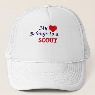 Mi corazón pertenece a un explorador gorra de camionero