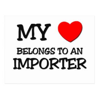 Mi corazón pertenece a un IMPORTADOR Postal