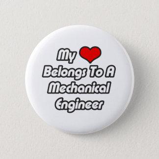 Mi corazón pertenece a un ingeniero industrial chapa redonda de 5 cm