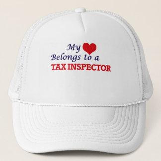 Mi corazón pertenece a un inspector del impuesto gorra de camionero