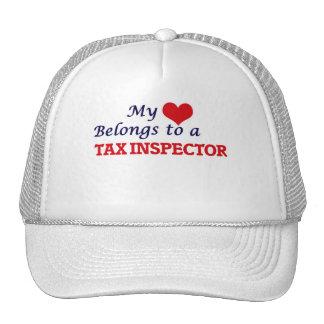 Mi corazón pertenece a un inspector del impuesto gorras de camionero